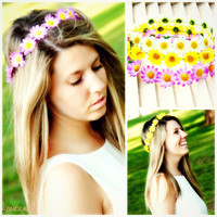 Sundrenched Daisy Flower Crowns