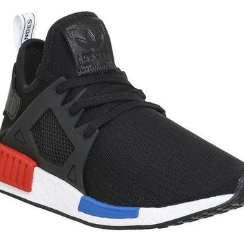 LMFON adidas Originals NMD_XR1 PK Mens Running Trainers Sneakers (US 9.5, black white BY1909)