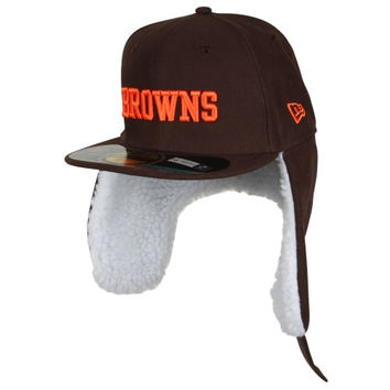 New Era Cleveland Browns Youth On Field Dog Ear 59FIFTY Structured Fitted Hat - http://www.shareasale.com/m-pr.cfm?merchantID=7124&userID=1042934&productID=547698096 / Cleveland Browns