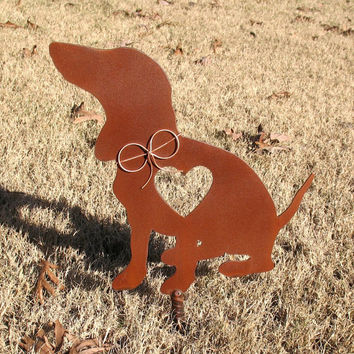 Dachshund Dog Metal Garden Stake - Metal Yard Art - Metal Garden Art - Pet Memorial 2
