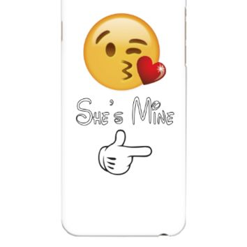 emoji she is mine - iphone 6 Plus Case