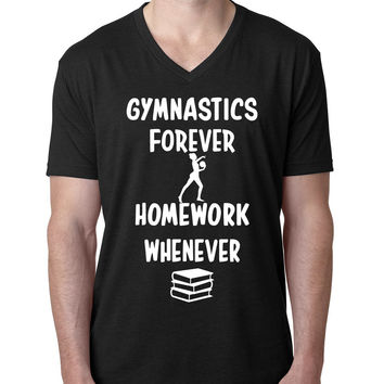 Gymnastics forever homework whenever V Neck T Shirt