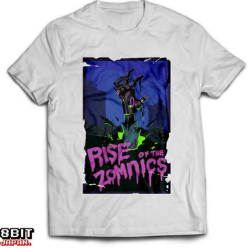 Overwatch Zomnic Zombie Halloween Spray Unisex T-Shirt White Cotton