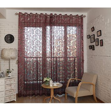 Window Sheer Curtains Panel, Madrid