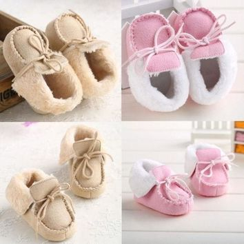 DCCKIX3 Lovely Baby shoes warm winter Boots soft fur toddler crib 3 sizes 0-18 months- @n5 = 1931533508