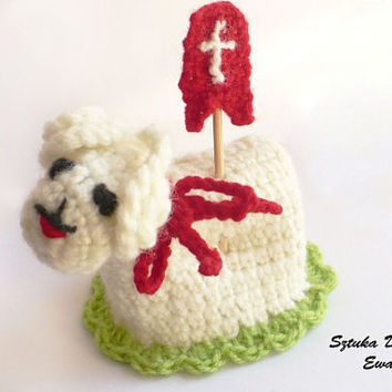 Crochet Easter sheep decoration, spring lamb , easter lamb , cozy sheep egg warmers, egg cover ,crochet egg covers ,egg cozy sheep