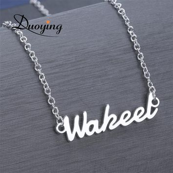 DUOYING Custom Necklace Personalized Choker Necklace For Women Copper Name Necklace Drop Supplier for Etsy