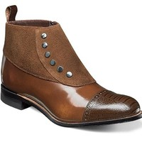 Stacy Adams Madison Cap Toe Side Zipper Demi Boot