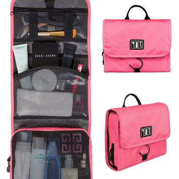 WORTHFIND Toiletry Makeup Bag Waterproof Cosmetic Bag Large Women Travel Storage handBag Organizer travel bag
