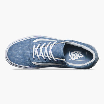 VANS Denim Chevron Old Skool Womens Shoes | Sneakers