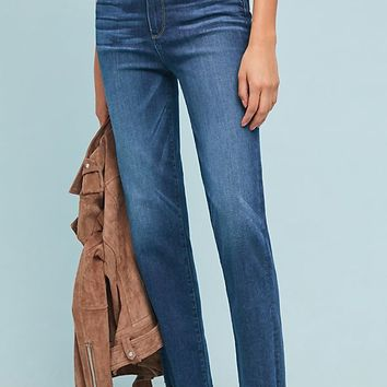 Paige Hoxton High-Rise Straight Fray Jeans