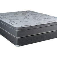 Continental Sleep Mattress,  Foam Encased 10 Inch Eurotop Pillowtop Fully Assembled Orthopedic Queen Mattress and Box Spring, Beautiful Rest Collection