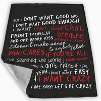 Hunter Hayes quotes lyric Blanket for Kids Blanket, Fleece Blanket Cute and Awesome Blanket for your bedding, Blanket fleece *