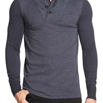 Men's G-Star Raw 'Harmezra' Shawl Collar Long Sleeve T-Shirt,