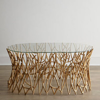"""Golden Branches"" Coffee Table - Horchow"