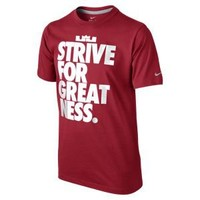 "Nike Store. LeBron ""Strive for Greatness"" Boys' T-Shirt"