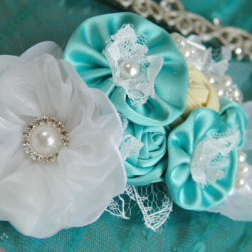 Magic mint bridal hair accessory, wedding hair accessory, bridal hair clip, bridal hair comb, bridal hairpiece, bridesmaid hair clip