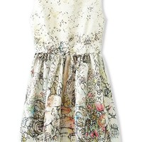 Sweet Floral Sleeveless Dress - OASAP.com