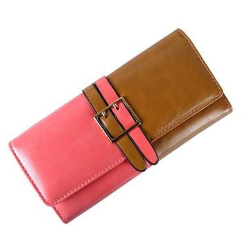 Women's Fashion Leather Card Holder Wallet Designer Clutch Bag Purse