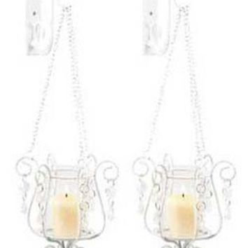 Iron Bedazzling Pendant Sconce -Set Of 2