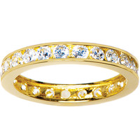 Solid 14K Yellow Gold Cubic Zirconia Eternity Toe Ring - Size 3.5 | Body Candy Body Jewelry