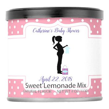 Pink with Polka Dots Baby Shower Lemonade Mix