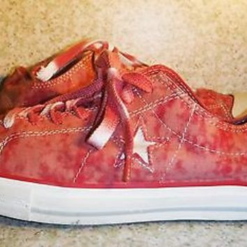 Converse One star Sneakers Pink Red white women size 11