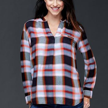 Gap Drapey Plaid Shirt
