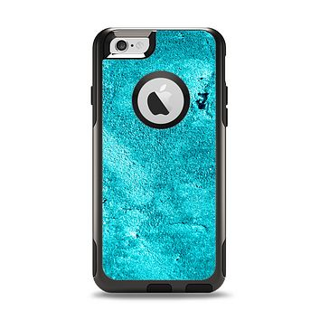 The Vibrant Blue Cement Texture Apple iPhone 6 Otterbox Commuter Case Skin Set