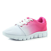 River Island Girls pink contrast fade out sneakers