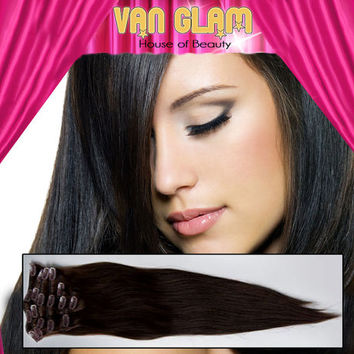 "Clip In//Hair Extensions//20""//100% Cuticle Remy Human Hair"