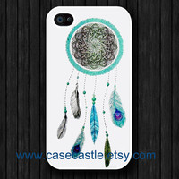 Dream catcher on White Iphone 4 case Iphone 4S case by CaseCastle