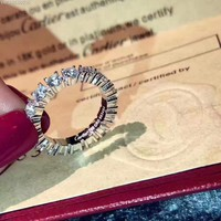 Cartire High New ring leopard ring blue diamond drill hollowed out Cartier Trinity Ring S925 Sterling Silver 18 K gold