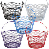 Bulk Round Plastic-Coated Wire Baskets with Handles at DollarTree.com