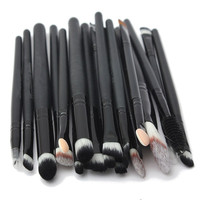 20 Piece Professional Brushes for Foundation + Eyeshadow + Contour