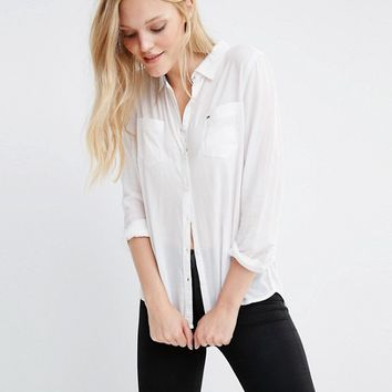 Hilfiger Denim Chambray Shirt at asos.com