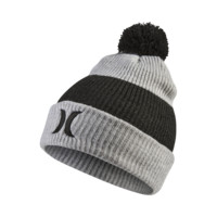 Hurley Heathered Pom Kids' Knit Hat (Grey)