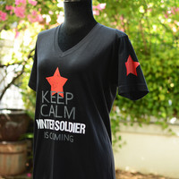 keep calm Winter Soldier is coming t-shirt short sleve