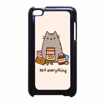 Pusheen The Cat Eat Everything iPod Touch 4th Generation Case