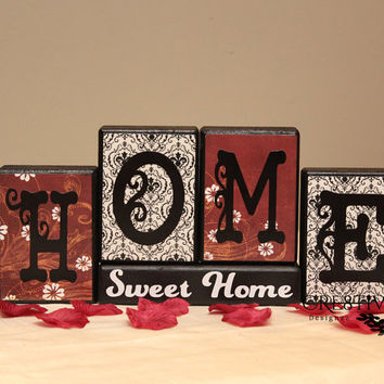 Home Sweet Home Wood Blocks Décor