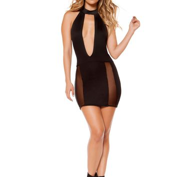 Sassy Black Mini Clubbing Dress
