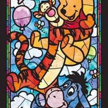 5D Diamond Painting Winnie the Pooh and Friends Stained Glass Kit