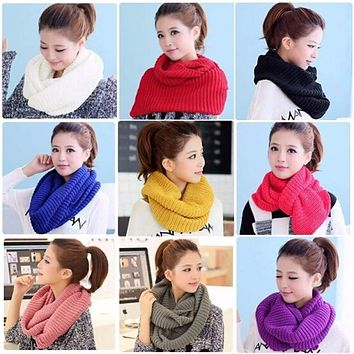 Winter Warm Nice  Infinity Knit Cowl Neck Long Scarf Shawl