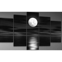 Art Wall 3-Piece Moon Rising Gallery Wrapped Canvas Art by Jim Morana, 36 by 24-Inch