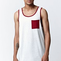 On The Byas Mane Ethnic Longline Tank Top - Mens Tee - Natural