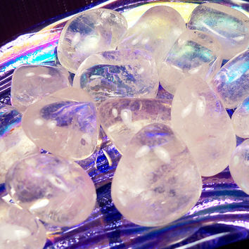 Crystal Quartz Master Healer Stone - Ice Quartz Crystal Opens Mind and Soul to Spirit Realm, Clarity & Strength, Amplifies All Other Stones