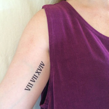 2 Roman Numeral Temporary Tattoos - SmashTat