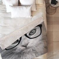 Allyson Johnson Hippest Cat Fleece Throw Blanket