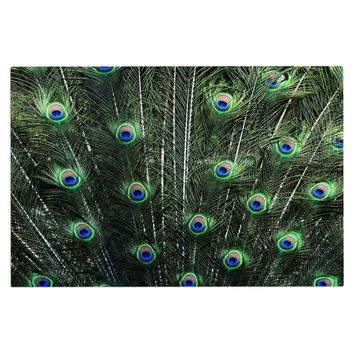 "Robin Dickinson ""Glory"" Peacock Green Decorative Door Mat"