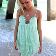 Bondi Beach Mint Lace Babydoll Sundress